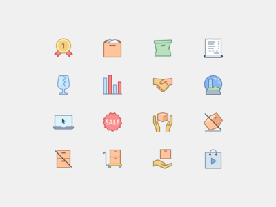 E-commerce Icons in Office Style 2