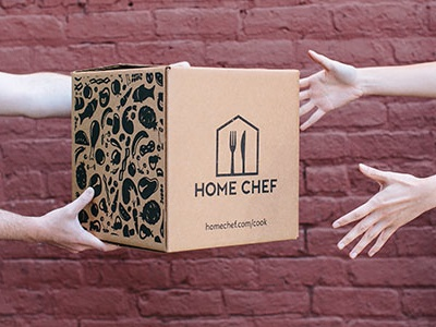 New Box Design pattern home chef meal kit print box packaging