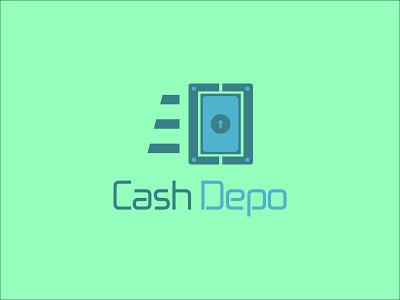 Cash Depo professional logo minimal design typography corporate design vector graphic design logo design logo illustration branding