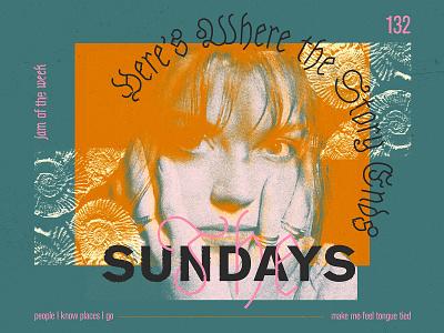 Jam of the Week   132 album art 90s rogue studio jam of the week design branding typography illustration graphic design rock indie