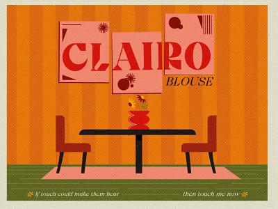 Blouse typography fan art clairo music vector indie graphic design album art illustration design