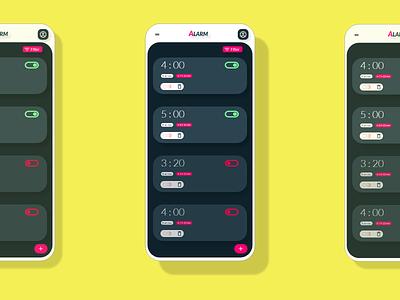 Alarm App UI Design ui logo design branding app icon typography ux vector illustration