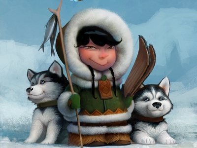 Eskimo tkach art illustration character