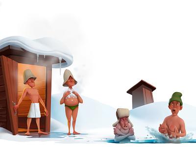 cool down character illustration art tkach