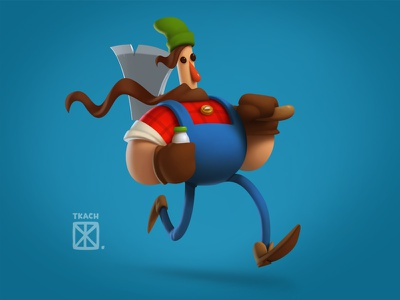 Run character illustration art tkach