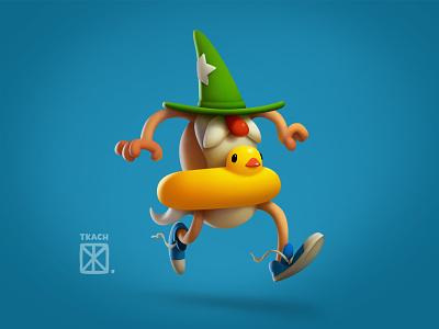 Run-run character illustration art tkach