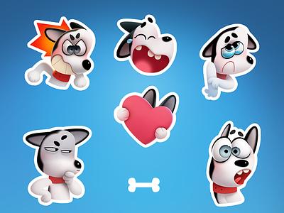 Max the Husky stickers stickers sticker husky dog character