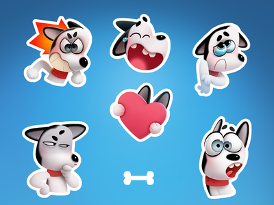 Max the Husky stickers stickers sticker husky dog character
