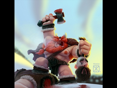 D:< viking illustration art cartoon character