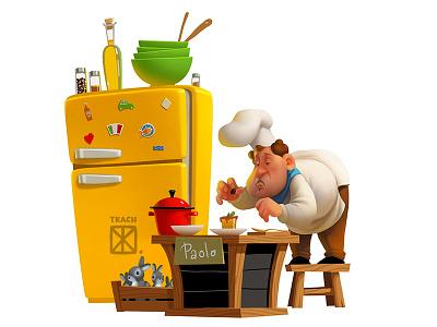 Chef illustration art character chef
