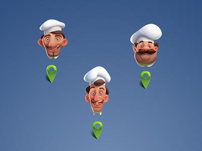 Chefs head illustration art character chef