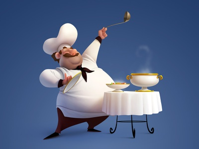 Chef art characters illustration