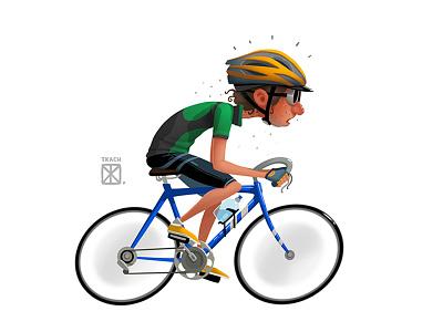 Bicyclist illustration art character