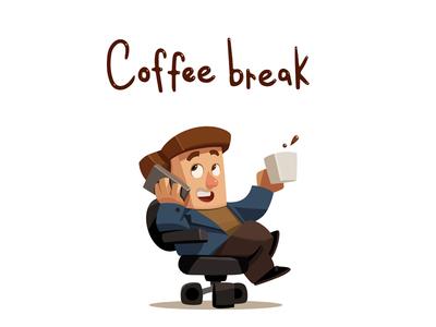 Coffee break illustration art character
