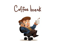 Coffee break illustration art character