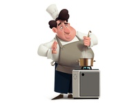 Chef illustration art character chef