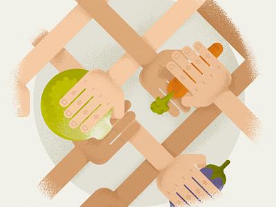 Ratatouille Tutorial illustration illustration vector hands vegetables meet up ratatouille