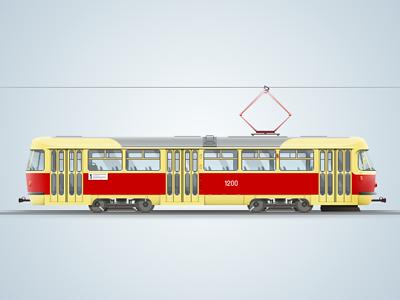 Tatra T3 tram techdesign tatra drawing process