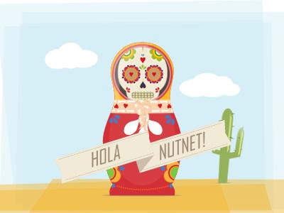 "Matreshka ""Santa Muerte"" illustration matreshka nutnet"