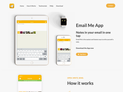Email Me new landing page bootstrap landing page app