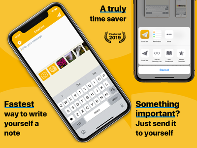 Email Me App - App Store Screenshots