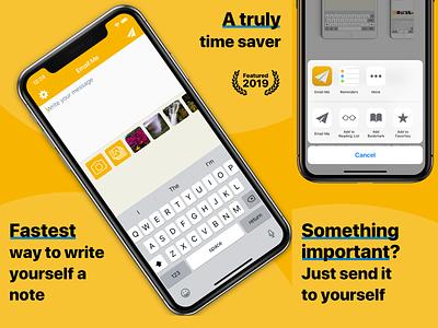 Email Me App - App Store Screenshots app design iphone iphone app iphonex apple app store screenshots app