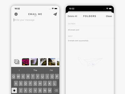 Quick Notes To Self - New Folders Screen ux ui apple flat iphonex iphone screenshots app store app design app