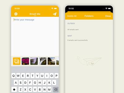 Quick Notes To Self - New Folders Screen [Yellow Version] ux ui iphone app iphonex iphone flat screenshots app store apple app design app