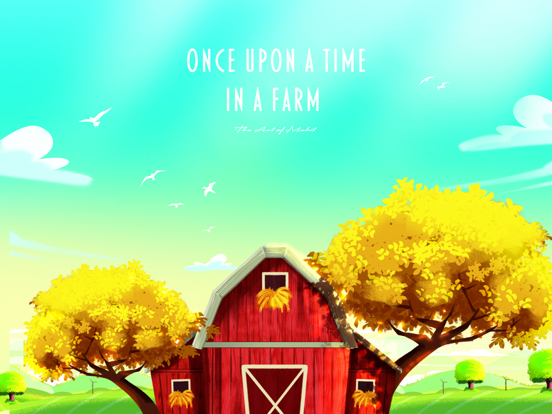 A New Farm Story photoshop children childrens illustration children book illustration