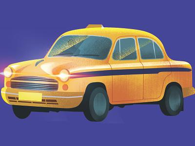 Taxi from Kolkata India poster art illustrator photoshop myntra print illustration vector
