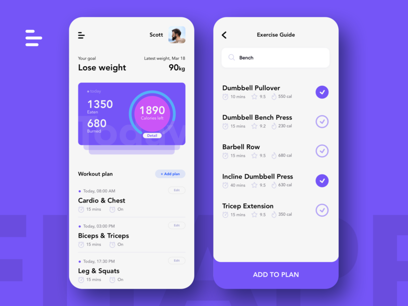 Weight Loss Apps clean uiux healthy apps fitness sports diet weight loss service mobile ui design