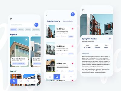Property app apartment rental minimalism residence marketing property home app mobile uiux design ui