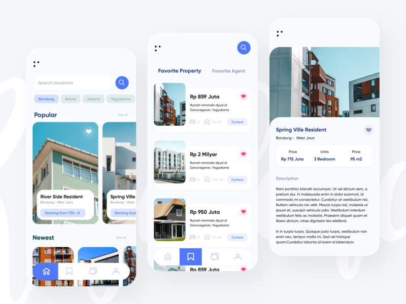 Property app apartment rental minimalism residence marketing property home app mobile uiux design ui