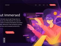 Immersed Illustration v.01 ux branding vector virtual reality vr hero image design ui homepage website service illustration