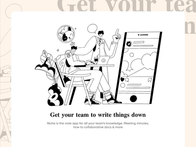 NekoNeko Illustration note app hero image ux ecommerce technology teamwork ui homepage website service design illustration