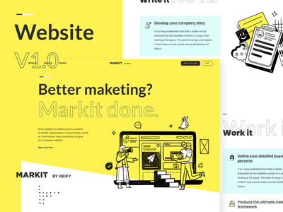 Markit Homepage app ui clean mobile ecommerce homepage sass website service design illustration