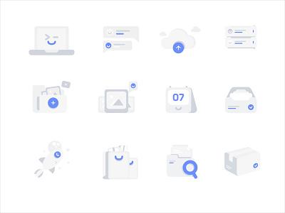 Flat Icon greyscale minimalist simple flat icon mobile ui app website service design illustration
