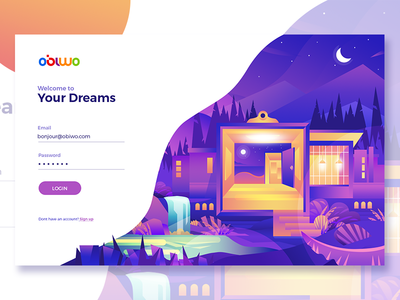 Login Page for Obiwo