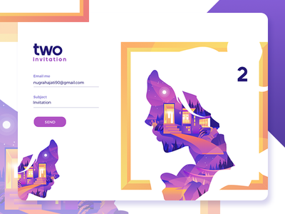 Dribbble Invite draft give away web invites invitation illustration icons gradient purple dribbble character