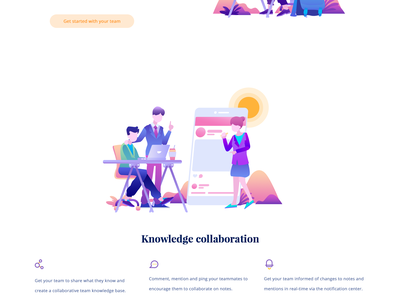 Niche Homepage people business meeting service icon illustration homepage team apps collaboration
