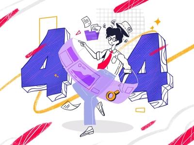 404 Illustration app ui mobile service not found web design 404 error page 404page website design illustration