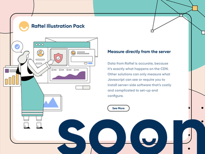 Raftel Illustration Pack v1.0 dashboad teamwork hosting security onboard mobile app homepage website service design illustration