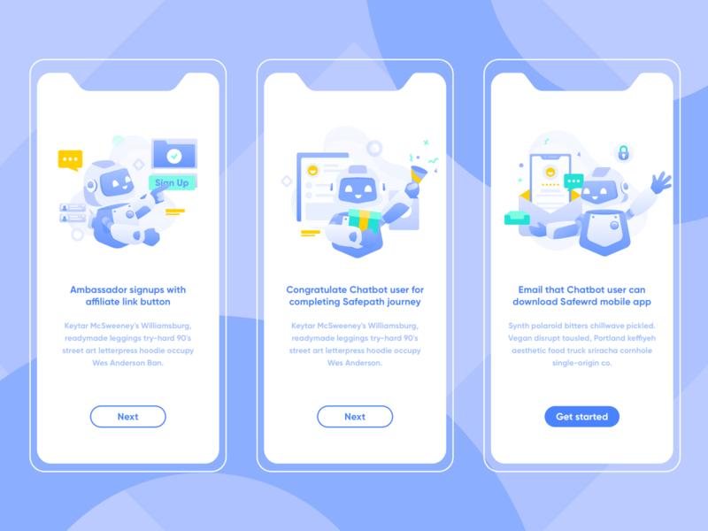 Chatbot Concept vector intro bot chatbot onboard app mobile website service design illustration