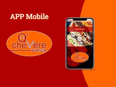 APP Mobile Q´Chevere Burger ui figma diseñouxui diseñoui diseño gráfico diseño design