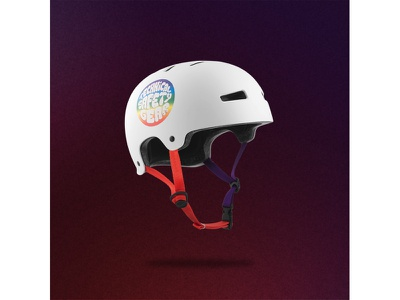 TSG Evolution OG skateboard purple red white sport action bmx old school original helmet