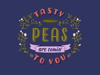 Tasty Peas Lettered