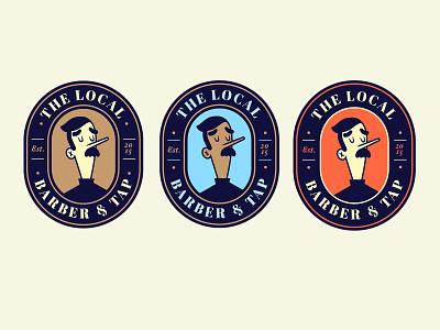 Barber & Tap Badges illustration branding vector illustrator character design typography design badge design badges