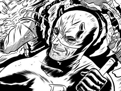 Daredevil & Elektra inked