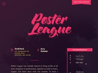 Poster League site redesign