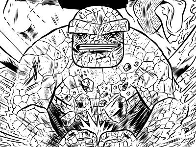 Fantastic Four illustration comics fantastic four ink drawing character design marvel